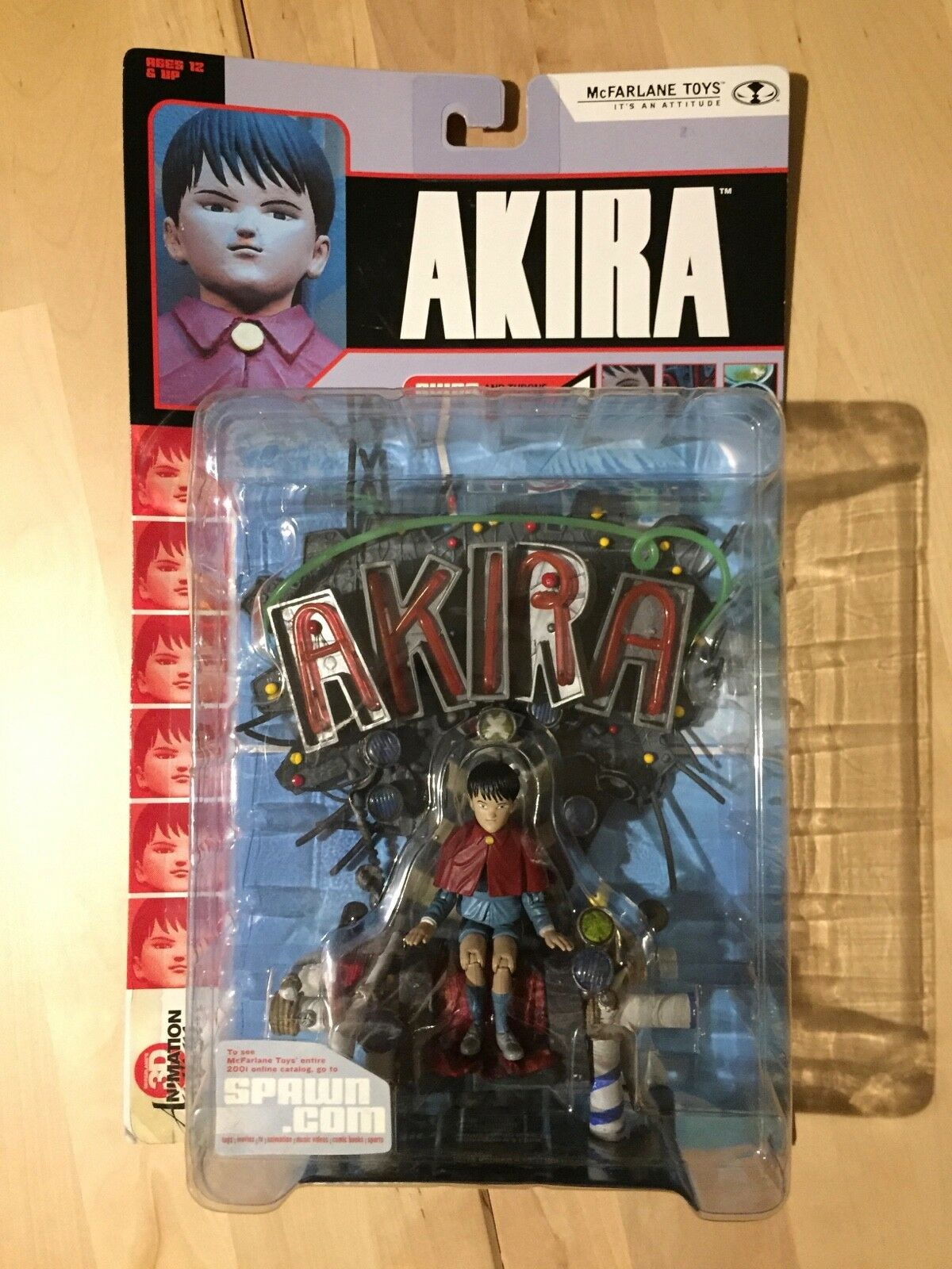 MCFARLANE 3D ANIMATION FROM JAPAN SERIES 2  AKIRA  ACTION FIGURE MOC 2001 THRONE