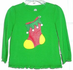 GIRL-039-S-GREEN-HOLIDAY-PULLOVER-T-SHIRT-by-J-Khaki-Kids-cotton-blend-lt-sz-2T-gt