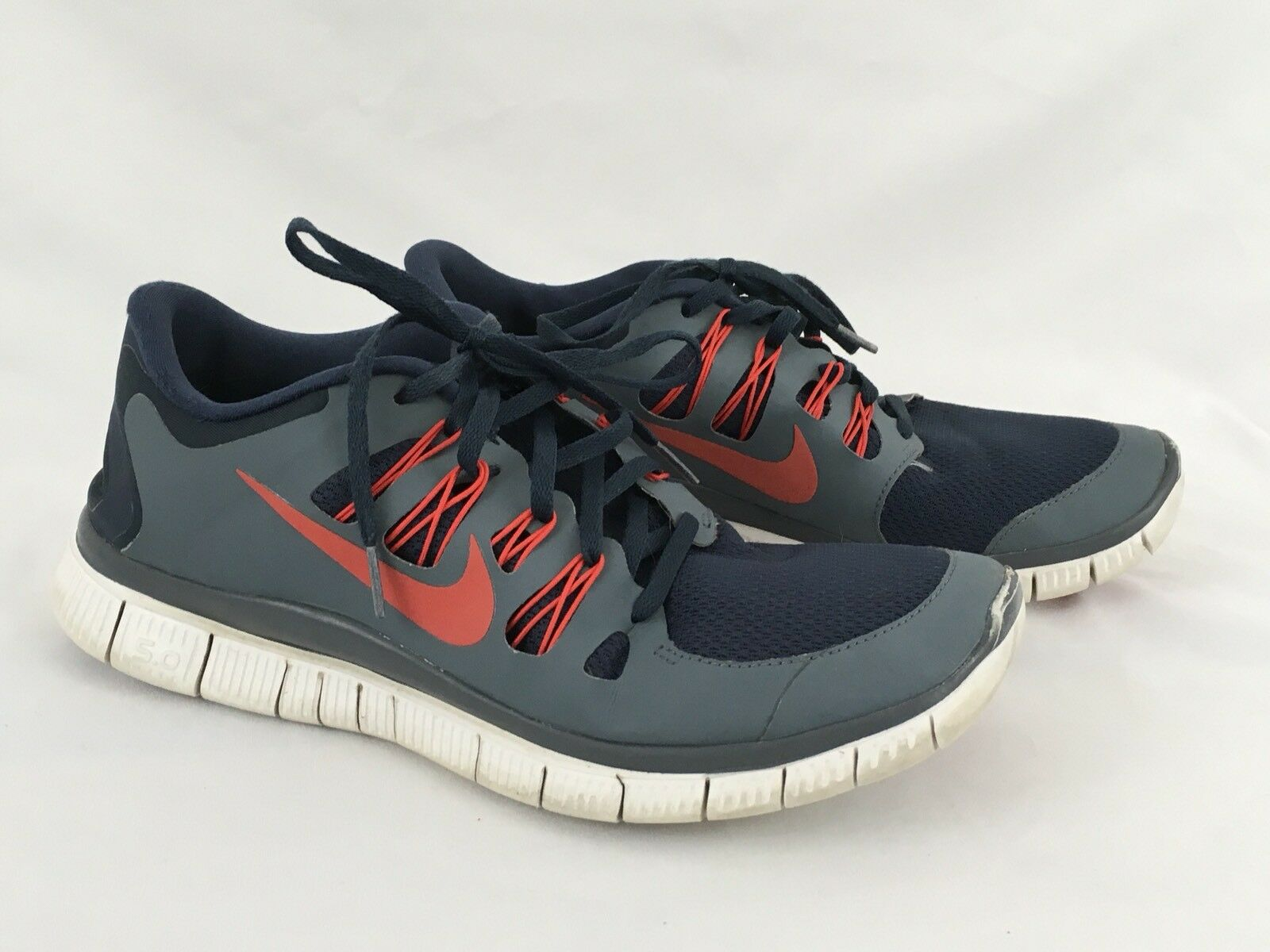 Nike Free 5.0 Armory Navy Challenge Red Comfortable Casual wild