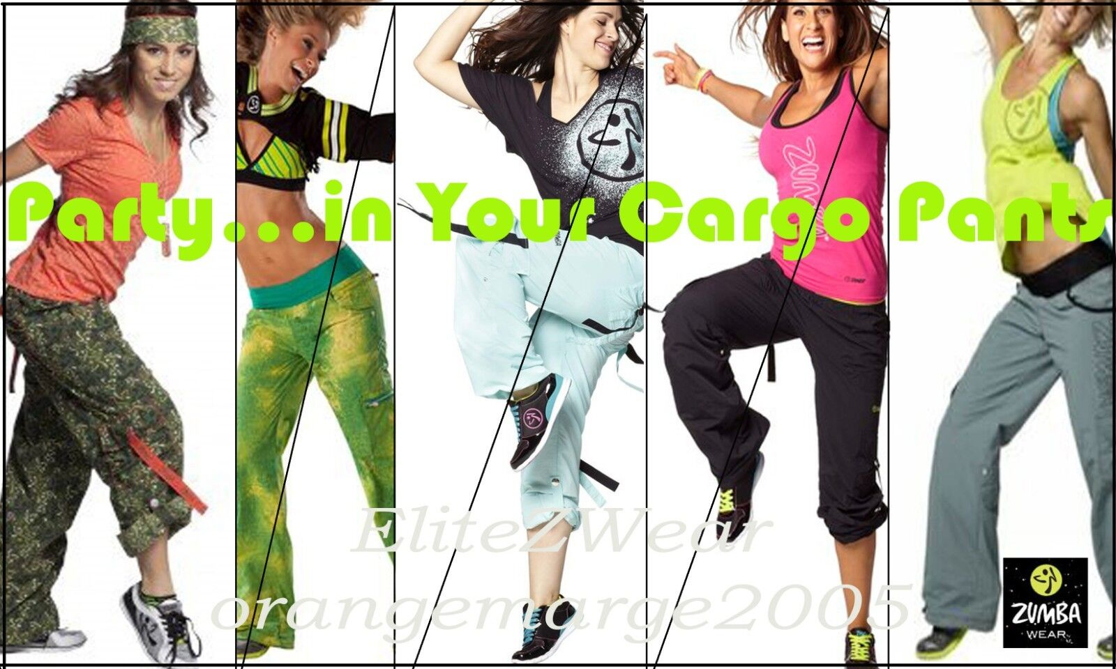 ZUMBA CARGO PANTS Variety of Styles,colors & Sizes  Congreens to Capri EliteZWear