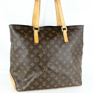LOUIS-VUITTON-CABAS-MEZZO-Shoulder-Tote-Bag-Purse-Monogram-M51151-Brown