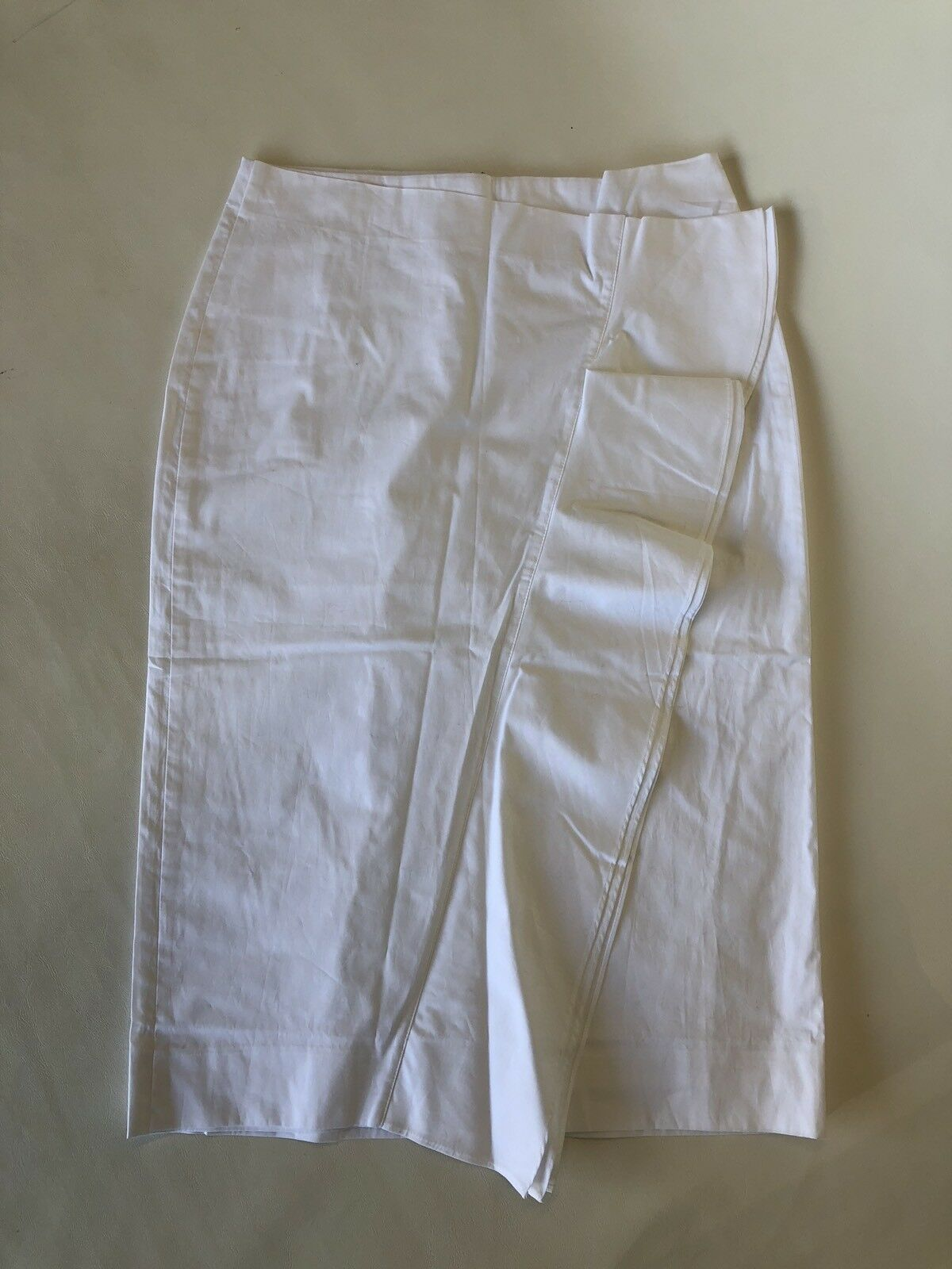 New J.Crew Tall Ruffle skirt in cotton poplin White Sz 4T G3622