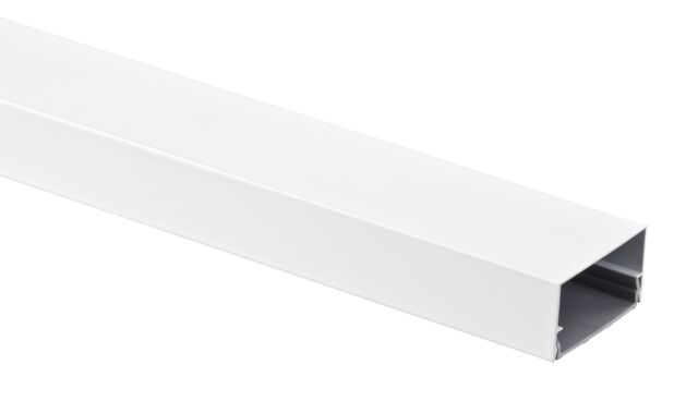 Alu Kabelkanal Weiss Eckig 115x5 Cm Fur Tv Hifi Computer Lampen