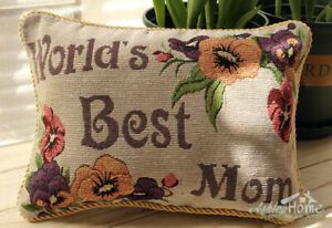 Enjoyable Details About 9X13 Worlds Best Mom Mini Couch Sofa Tapestry Throw Pillow Case Cushion Cover Pabps2019 Chair Design Images Pabps2019Com