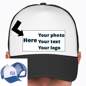 Custom-Trucker-Snap-Back-Hat-Baseball-Cap-Pick-Your-Color-Hat-Your-photo-or-text