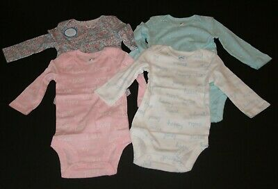 New Carter/'s 3 Pack Girl/'s Flower Bodysuits Top Pink NWT 6m 9m 12m 18 24m