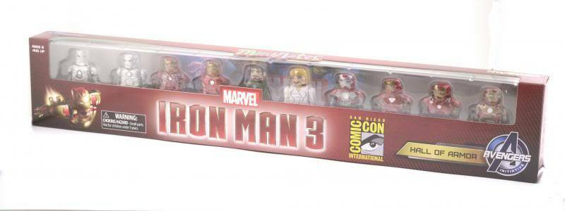 Marvel Minimates Sdcc Exclusivo Iron Man 3 Movie Hall Of Armor Box Set