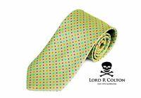 Lord R Colton Basics Tie - Lime Confetti Woven Necktie - $59 Retail on sale