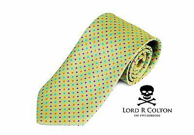 Lord R Colton Basics Tie - Lime Confetti Woven Necktie - $49 Retail New