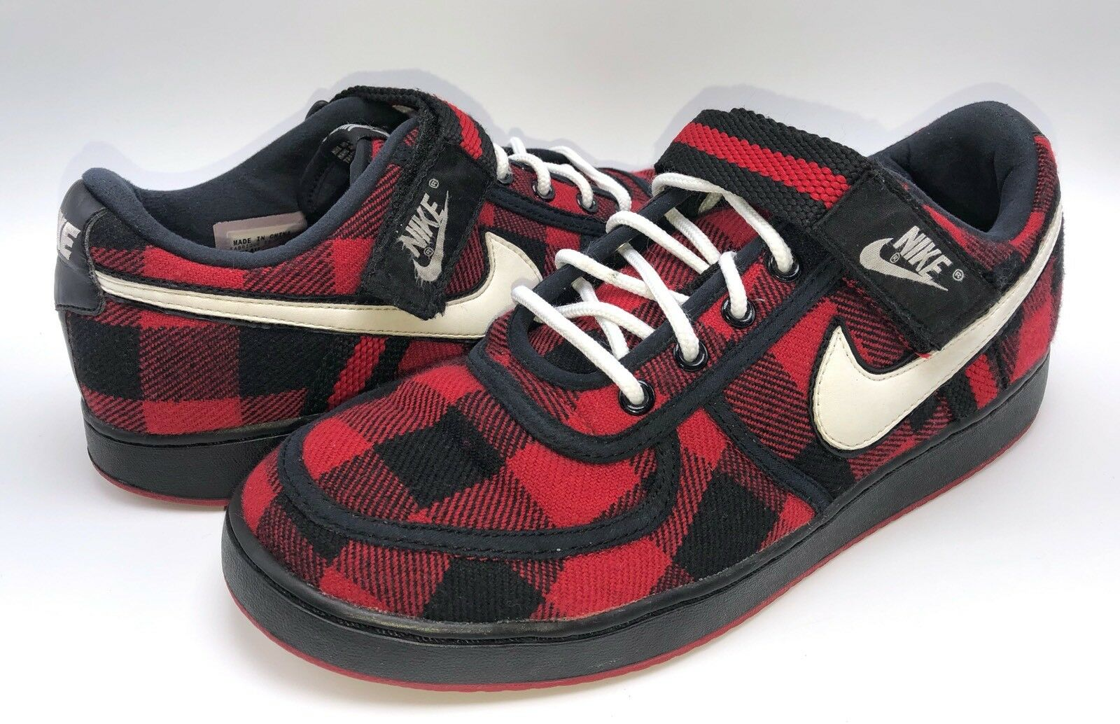 Nike Vandal Low Premium Flanel Red Black Lumberjack Men's Size 10.5 341537-611