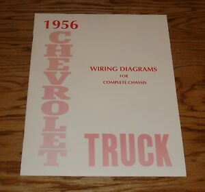 1956 Chevrolet Truck Wiring Diagram Manual for Complete ...