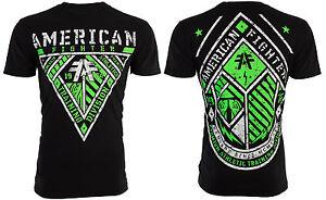 AMERICAN FIGHTER Mens T-Shirt ABERDEEN Athletic BLACK Biker Gym MMA UFC $40