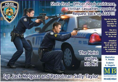 MASTER BOX™ 24064 Shot Fired Jack Melgoza /& Patrolman Sally Taylor in 1:24 Sgt