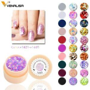 Venalilsa-5ml-Pure-Colour-Soak-OFF-UV-LED-Gel-Nail-Polish-Lacquer-Varnish-Pot-1p