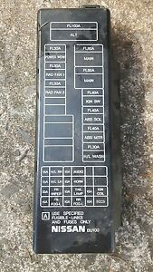 Details about NISSAN ALMERA TINO 1.8 ENGINE BAY FUSE BOX COVER LID on