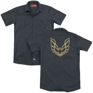 Pontiac-ICONIC-FIREBIRD-Licensed-Adult-Dickies-Work-Shirt-All-Sizes