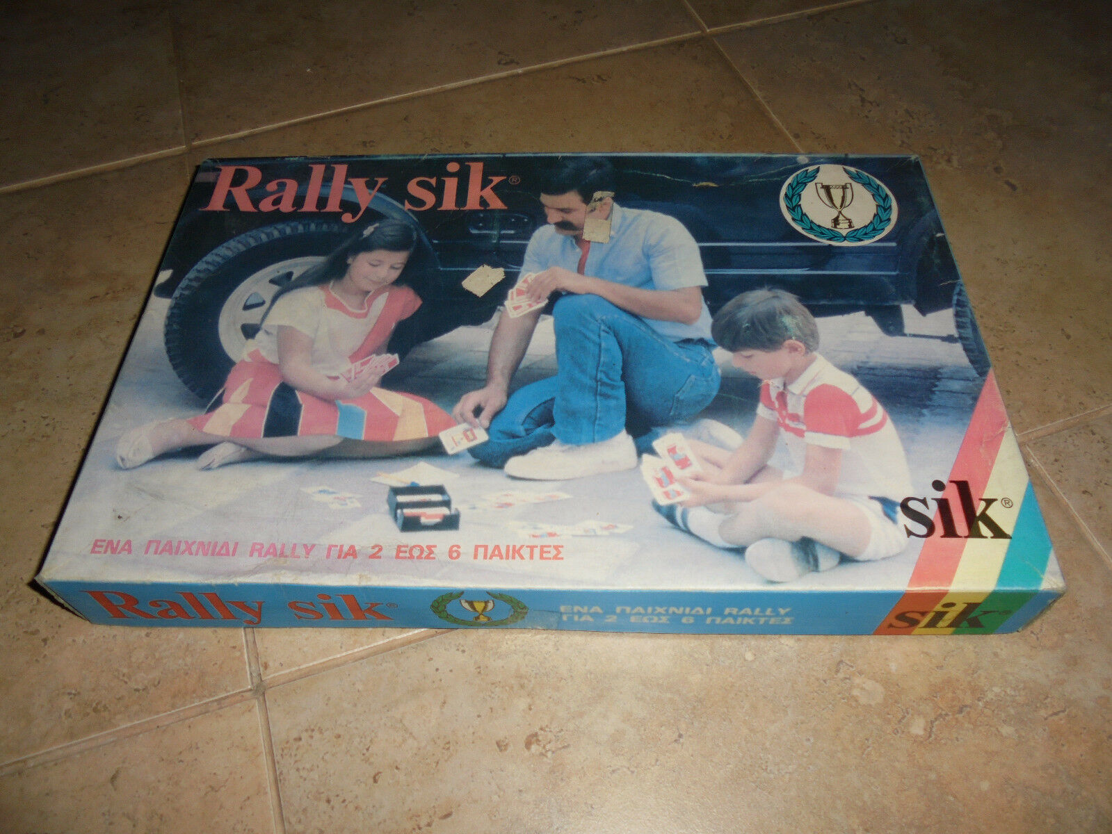 "Vintage 80's Greek tavola gioco ""Rtuttiy Sik"".nuovo    in linea"