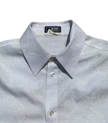 Gianni Versace Medusa Jacquard Shirt (White)