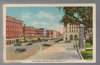 N.H Keene Cheshire County New Hampshire ~ Free Shipping 1940s BW Photo Postcard- View of County Court House /& Court Street