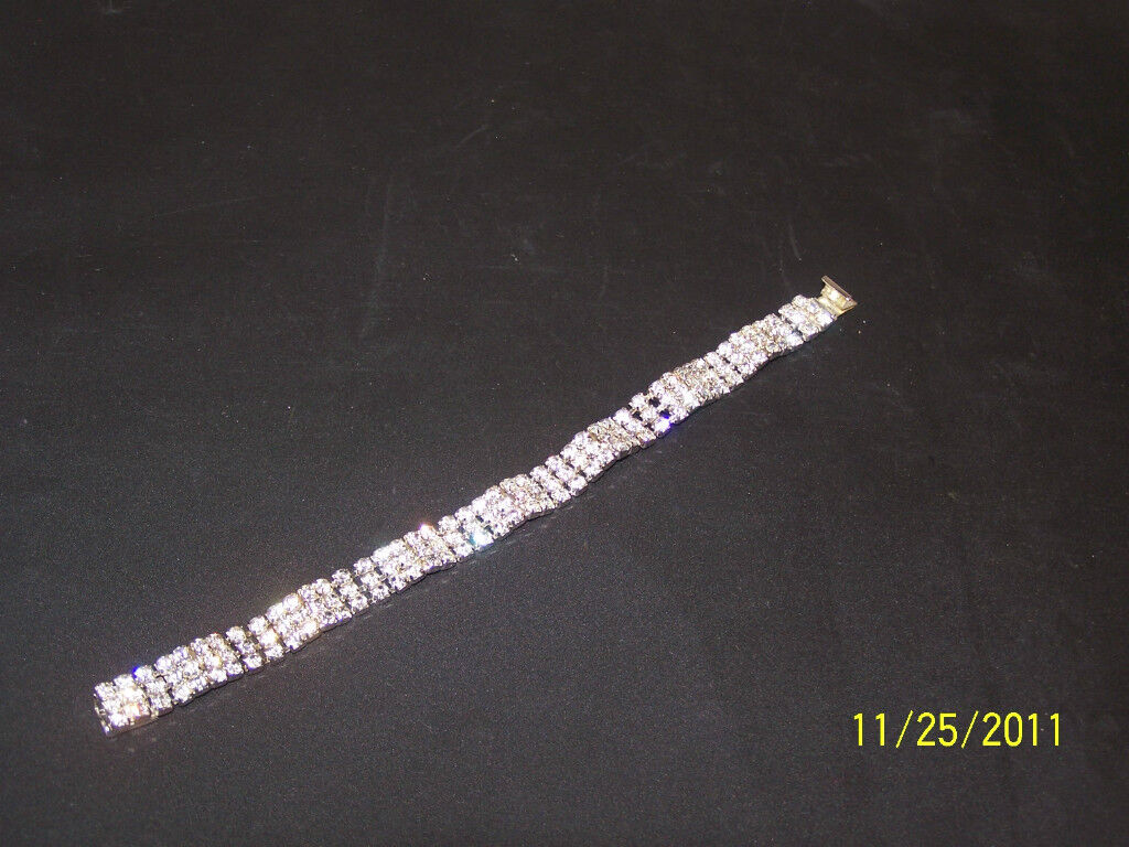 Austrian Crystal CZ Clear-Cut Bracelet
