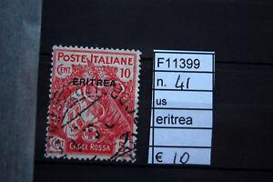 FRANCOBOLLI-ITALIA-COLONIE-ERITREA-USATI-N-41-F11399
