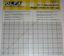 """OLFA ANTI SCIVOLO SATINATO Acrilico Quilting righello 12 """"X 12"""" tessuto carta qr-12s"""