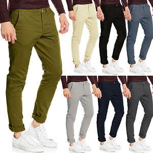 Dettagli su Pantaloni Chino Da Uomo Slim Fit Cotone Stretch Casual Jeans Stallion Kaki di marca mostra il titolo originale