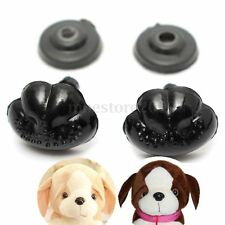 100Pcs Black Plastic Noses For Teddy Bear Puppy Doll Stuffed Animal Toy 15x12mm