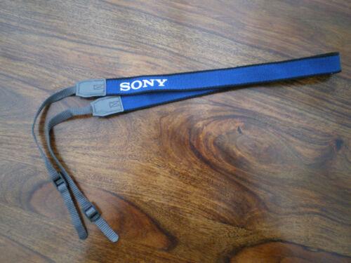 SONY ORIGINAL BLUE SHOULDER STRAP DIGITAL CAMERA OR DV HI8 SD CAMCORDER VIDEO