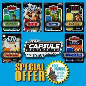 FREE-MANDO-OFFER-Vintage-Kenner-STAR-WARS-Name-Capsule-Wave-III-patch-set-of-6