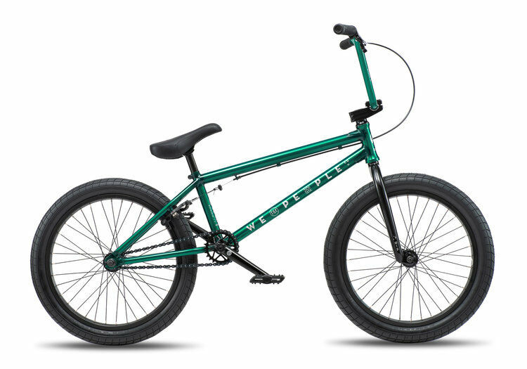 We The People 2019 Arcade 21 Trans Grün Komplett BMX Fahrrad 53CM S & M 21