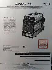 Lincoln Ranger 9 Welder Generator Amp Onan Gasoline Engine Owner Ampparts 3 Manuals