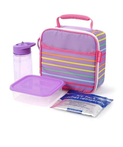 Ice Pack /& Food Container Arctic Zone Insulated Lunch Bag with Bonus Bottle