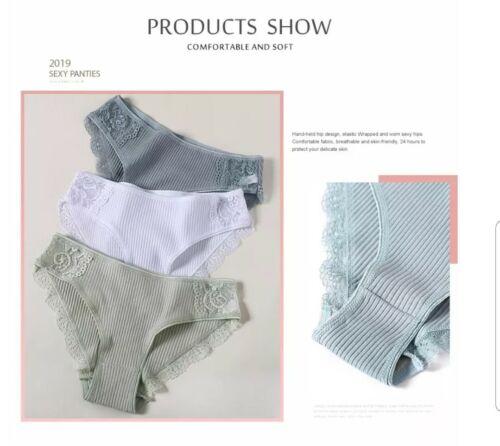Cotton Panty 3Pcs//lot Solid Women/'s Panties Size XXL
