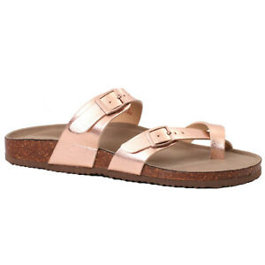 e01d1aaa231 Details about Women's Madden Girl BRYCEEE Rose Gold Buckle Straps Thong  Sandal Shoes