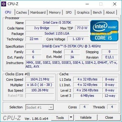 Bundkort/CPU/RAM, Intel, i5 3570K
