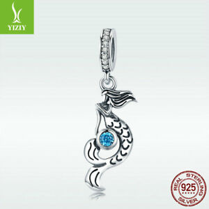 312c9a463a6 Image is loading Fashion-925-Sterling-Silver-Charm-Bead-Mermaid-Pendant-