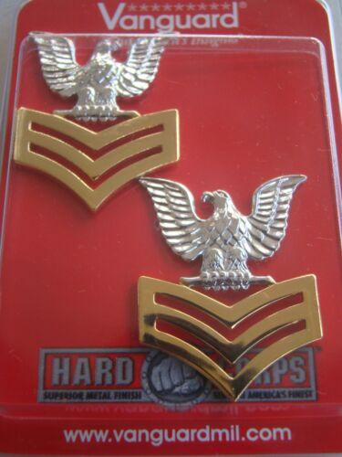 USN US NAVY E-6 PETTY OFFICER 1ST CLASS JACKET SHOULDER RANK INSIGNIA PAIR G//C