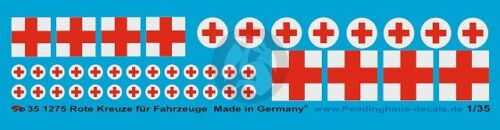1275 2 types Peddinghaus 1//35 Red Cross Markings for Vehicles and Ambulances