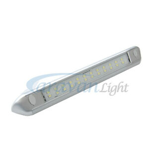 12v Led Awning Strip Light 250mm Silver Shell Cool White Caravan Rv Waterproof Ebay