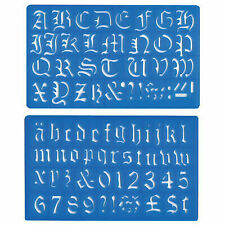 Anker International Stationery Lettering Number Stencil Set of 4 Stencil Sizes