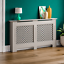 thumbnail 258 - Radiator Cover White Unfinished Modern Traditional Wood Grill Cabinet Furniture