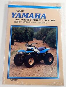 CLYMER-Yamaha-YTM-YFM200-AND-YTM225-1983-1986-Service-Repair-Manual-NEW