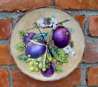 Baum Brothers Formalities 8 Alicia Collection Plums Custom Made Plate Clock