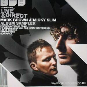 Various-Live-amp-Direct-Mark-Brown-amp-Micky-Slim-12-034-VINYL-Cr2-Records-2008-NEW