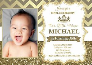 Prince Royal King White Gold First Birthday One Birthday