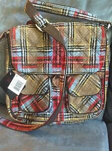 BagNew Patchwork Tags Bradley Saddle Vera With Limited Plaid Edition PZuOkXTwil