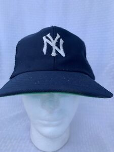reputable site 4b584 3a59e Image is loading Vintage-New-York-Yankees-Sport-Snapback-Hat-Cap-