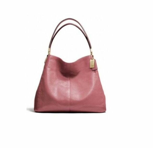 Coach Madison Leather Small Phoebe Shoulder Bag Handbag Rouge Pink F26224 26224