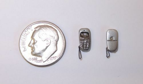 Ulus Artisan Crafted Vintage Style Cell Phone 1:12 Dollhouse Miniatures